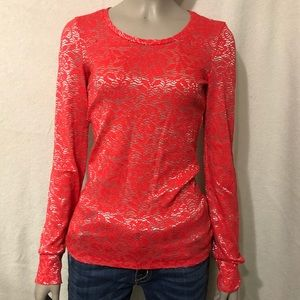 BKE red and silver long sleeve shirt